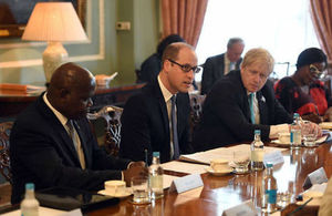 The Duke of Cambridge, the Foreign Secretary and African Commonwealth country leaders discuss illegal wildlife