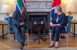 Prime Minister Theresa May and President Ramaphosa