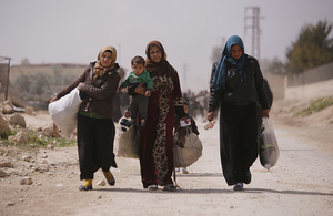 Women and children are evacuated from eastern Ghouta, Syria, March 2018. Picture: UNICEF/Omar Sanadiki