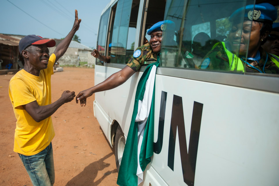 UNMIL peacekeepers withdrawing from Liberia. (UN Photo)