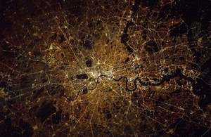London pictured from the ISS