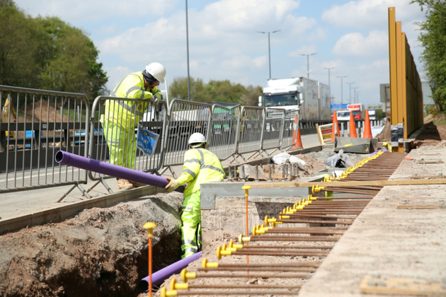 Roadworkers on site