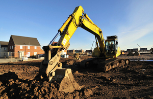 A digger on site