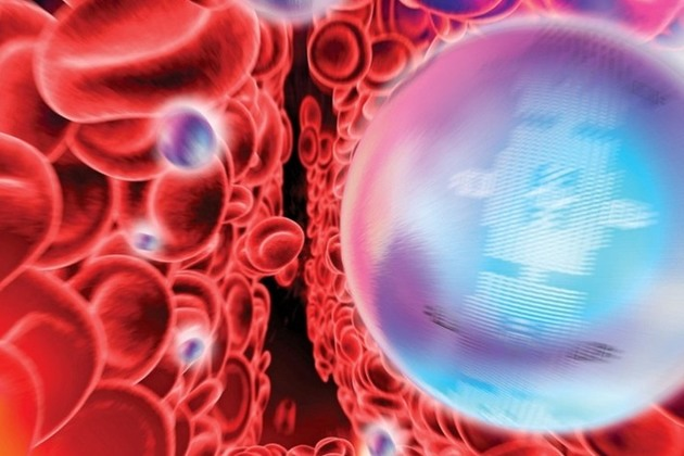 Illustration of red blood cells (image from UKTI Life Sciences Toolkit).