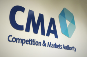 image of the CMA logo on a white wall