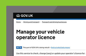 Manage your operator's licence image