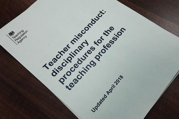 Teacher misconduct: disciplinary proceedings for the teaching profession