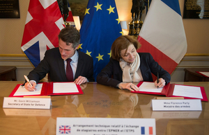 Defence Secretary Gavin Williamson and French Minister of the Armed Forces Mme Florence Parly