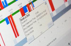 photo of digital tachograph download chart
