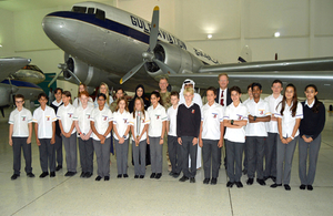 UK Royal Air Force Centenary Baton Relay reaches Al Mahatta museum in Sharjah