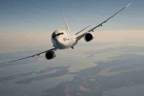 Boeing P-8A Posiedon Aircraft. Copyright all rights reserved.