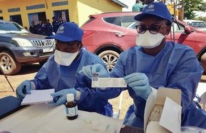 UK aid funded Ebola vaccine is now being used to help tackle the outbreak in DRC. Picture: WHO