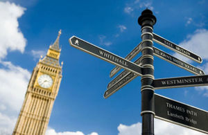 Signposts in Westminster