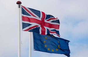 Picture of the UK and EU flag