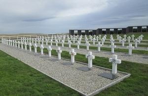Argentine cemetery at Darwin