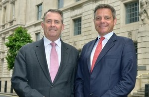 Liam Fox and Simon Penney