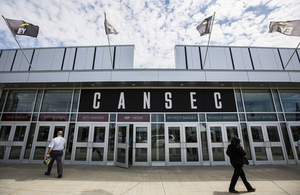 Conference Doors at CANSEC in Ottawa Canada