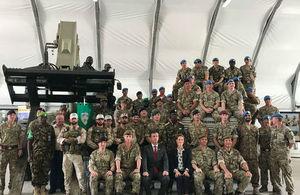 UK Minister for Armed Forces visit to Somalia