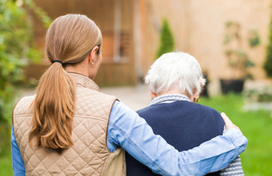 image of a care home resident with a support worker