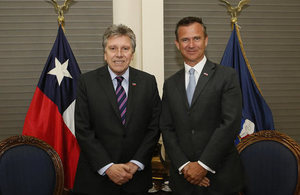 UK MInister for the Armed Forces with Chilean Defence Minister