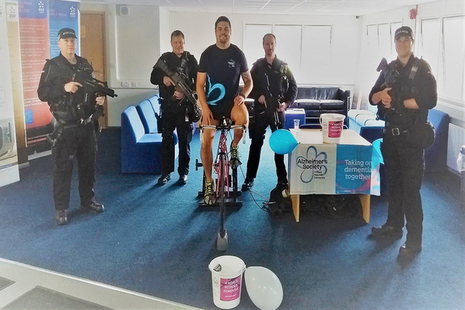 CNC officers take part in sponsored cycle