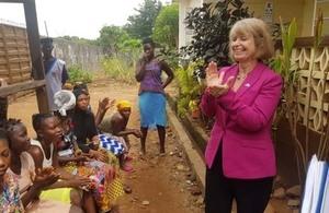 Minister Harriet Baldwin in Sierra Leone