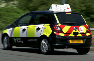 Image of a learner driver vehicle