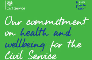 Civil Service graphic on health and wellbeing