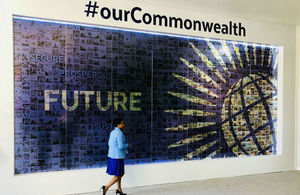 Commonwealth display at Lancaster House during CHOGM 2018