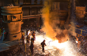 Picture of steel furnace