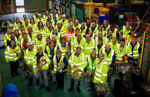 Teams from across the Sellafield Ltd's Infrastructure directorate help clear up site litter.