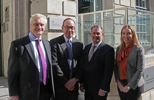 From left picture of Graham Stuart, Mark Slaughter, Liam Fox and Antonia Romeo