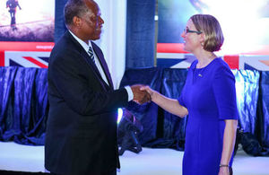 HE Sarah Cooke with Hon. Minister Prof. Kabudi
