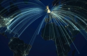 Pictures of global export and investment light paths