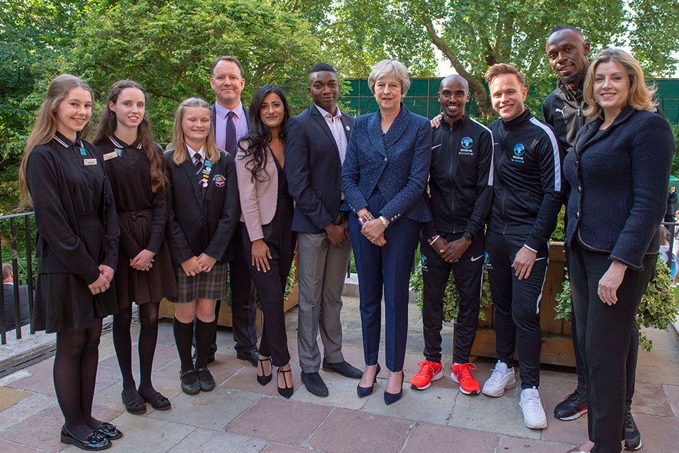 PM at the Soccer Aid reception