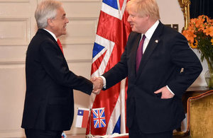 Chilean President Sebastián Piñera and Foreign Secretary Boris Johnson.