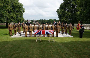 Members of the RTR pay their respects at the service. Crown Copyright. All rights reserved