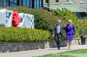 UK Prime Minister May at the G7 Leaders' Summit in Charlevoix