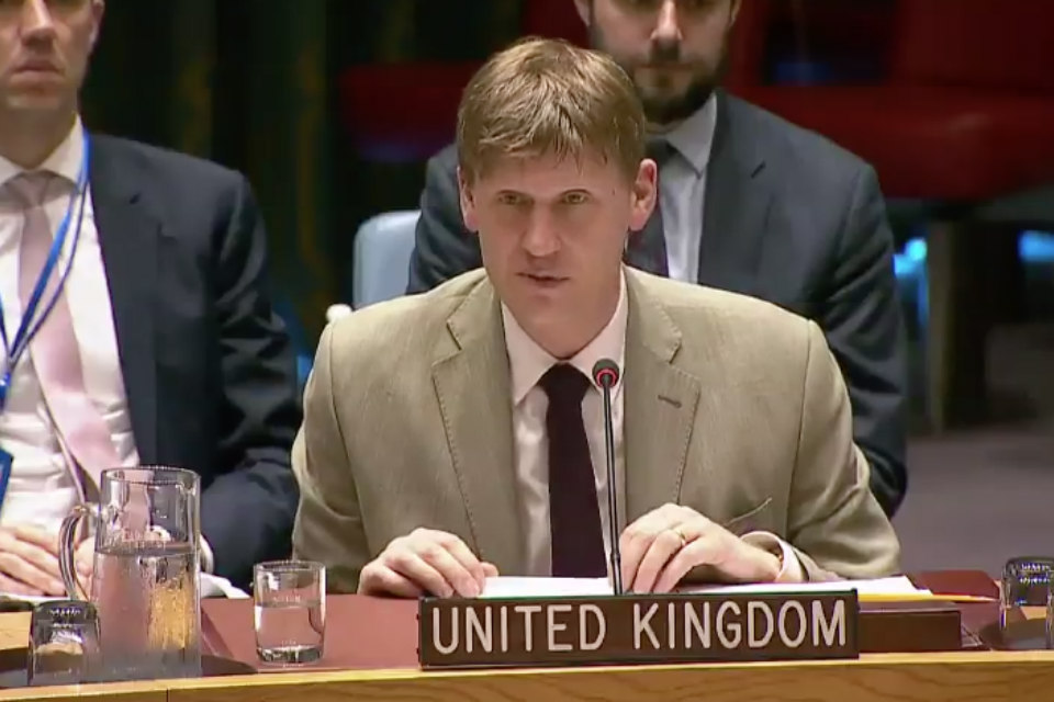 Ambassador Jonathan Allen at the Security Council briefing on Mali
