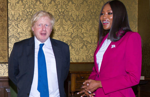 Foreign Secretary & Naomi Campbell discuss girls' education