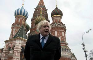 Foreign Secretary Boris Johnson in Moscow, December 2017