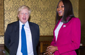 Read the 'Foreign Secretary & Naomi Campbell discuss girls' education' article