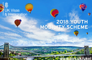 Youth Mobility Scheme 2018 for Taiwanese youth
