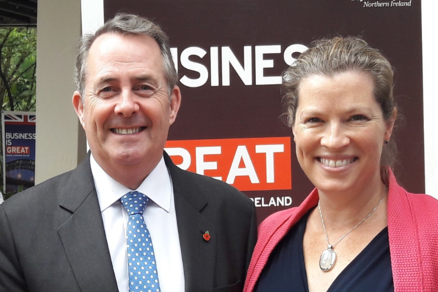 Dr Liam Fox with Emma Wade-Smith