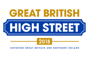Logo reads: Great British High Street  2018 : Covering Great Britain and Northern Ireland