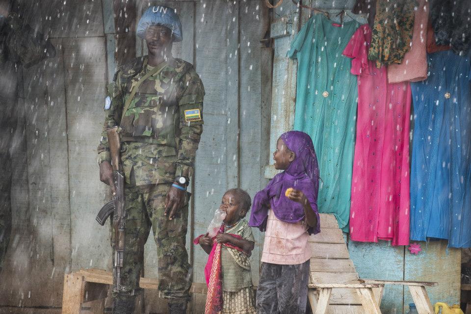 MINUSCA peacekeeper in CAR. (UN Photo)