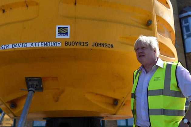 Boris Johnson visits the National Oceanography Centre in Southampton, UK