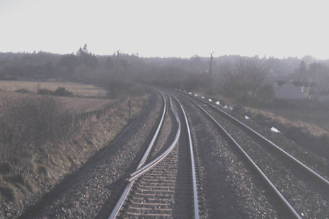 CCTV image showing the rail on the track shortly before the train struck it (image courtesy Virgin Trains East Coast)