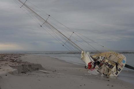 CV24 aground