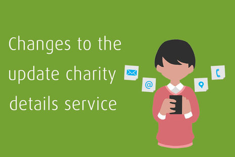 Update charity details service
